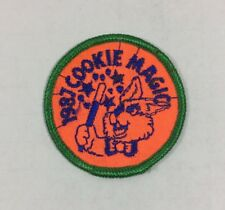 """Vtg Girl Scout Patch Badge - 1987 Cookie Magic - 2"""""""