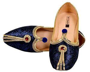 Blue Ethnic &Traditional Wedding Sherwani Jutti for Men