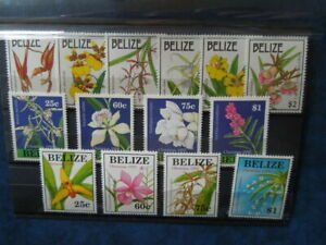 G1838  BELIZE  ORCHIDS 1992/1997/1998 3  X  SET  MNH EASTER/CHRISTMAS