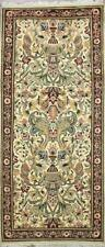 Traditional Handmade Oriental Area Rug Beige/Red Color turkish Rug Size(2.5 x 6)