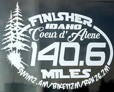 2018 Any year Ironman coeur d'alene idaho Triathlon Finisher Decal