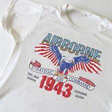 Vintage 70s US Airborne Strategic Air Command 1943 Eagle T-Shirt Soft Thin