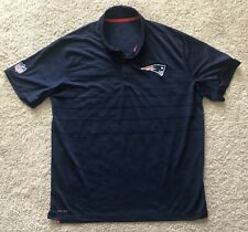 Nike Dri-Fit New England Patriots NFL Navy Blue Striped Polo Shirt Size XL