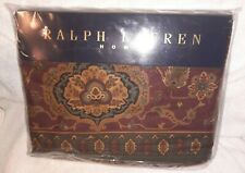 "Ralph Lauren Home ""Equestrian Paisley"" Twin Flat Cotton Sheet New"