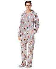 Family Pajamas Mens 1-Pc. Footed Holiday Happy Gnomes Small NWOT