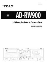 Bedienungsanleitung-Operating Instructions für Teac AD-RW900