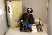 "Emmett Kelly Clown Weary Willie Wind Up Animated Musical 13"" Doll W/ Accessories"
