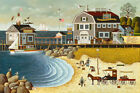 Charles Wysocki Clammers at Hodge's Horn Open Edition Canvas Giclee
