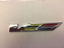 1XNEW Cadillac CTS SRX STS ATS XLR SLS Chrome Fender V SERIES Emblem Badge Lager
