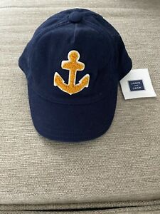 Janie And Jack 0-6 Months Boys Navy Blue Anchor Hat/Cap