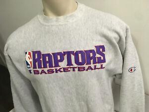 1990's Vintage TORONTO RAPTORS Champion REVERSE WEAVE Crewneck Sweatshirt XL NBA