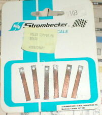 6 Cooper pick-up brushes ( with Hole) by Strombecker Original Vintage 1960's