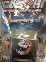 "SERGIO PEREZ ""CHECO"" 2017  HELMET CASCHI FORMULA 1 COLLECTION #43 1:5 MIB SPARK"