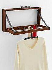 NEW Executive Hanging Wall Mount Valet Danish Mid Century Folding Solid Walnut