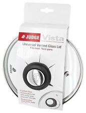 Judge Universal Vented Glass Saucepan Lid