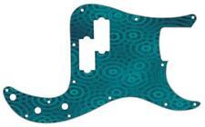 P Bass Precision Graphic Pickguard Custom Fender 13 Hole Guitar Crazy Ripples BL
