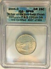 2005 D OREGON Twenty Five Cent Coin First Strike ICG SP 69
