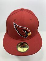 "New Era 59FIFTY Burgundy Arizona Cardinals 7 5/8"" Fitted Flat Bill Cap, NEW!"