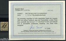 DP Marokko 3 Pfg. Krone 1899** Plattenfehler Befund (S7873)
