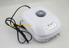 New 300 Gallon Adjustable 15W Silent Air Pump Large Aquarium Fish Tank 4 outlet