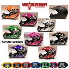 Motocross Helmet, Youth Large with Goggles, MX, Aust. Std, dirt bike, quad, BMX
