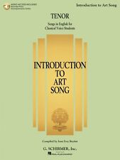 Introduction to Art Song for Tenor Songs in English for Classical Voic 050600559