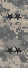 2 STARS Black ACU Army Camouflage sew-on rank patches police chief/sheriff