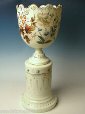 Victorian 19th Century New England Glass 2 piece Large Urn/Vase Monteith Bowl