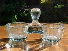 Open Salts Antique French Victorian Crystal Double Salts