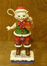 "Jim Shore Heartwood Creek 4027766 CATCH THE CHRISTMAS SPIRIT CAT, NEW/Box """