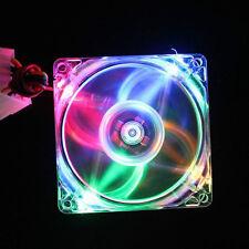 80mm 80x80x25mm 12V Multi-color LED PC Computer Case Cooling Cooler Fan 8cm 4pin