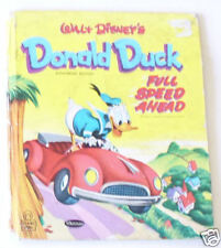 Walt Disney's Donald Duck -Full Speed Ahead Tell-A-Tale book 1953 Nice! SEE!