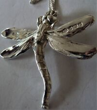 Solid Sterling Silver The Dragonfly Pendant Necklace