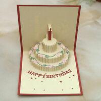 3D Glückwunsch Grußkarten Geschenkkarten Geburtstag O0I2 Party 2016 Einladu C0R8