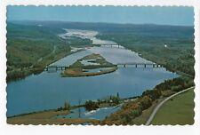 Aerial View ST JOHN RIVER VALLEY New Brunswick Canada UNIC Postcard