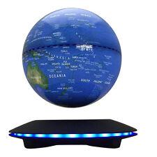 "6"" Blue Magnetic Levitation Globe Floating LED Levitating Rotating Earth Model"