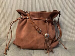 Authentic FRYE SOCHA Brown Suede Shoulder Bag