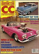 CUSTOM CAR MAY 1991-PRO STREET CORVETTE-57 CHEVY-CHASSIS TECH PT1-V8 MK1 ZEPHYR