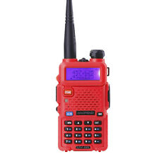 BaoFeng UV-5R Red VHF/UHF Dual-Band ham 2 way radio Walkie Talkie From US Stock