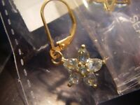 Paraibe Apatite Lever Back Earrings in 14K Gold O/lay Sterling Silver 1.750 cts