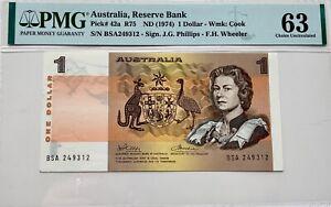 Australia 1 Dollar PMG 63 Pick #42a ND (1974)