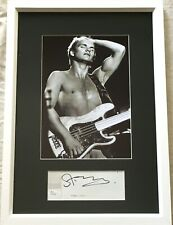 Sting autographed signed auto matted framed Police 1979 7x10 concert photo (JSA)
