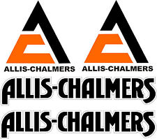ALLIS CHALMERS Tractor vinyl decals  4 piece set