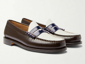 NIB G.H. BASS Weejuns Larsons Color-Blocked Penny Loafers | Brown, US 9D