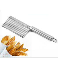 Stainless Steel Potato Wave Knife French Fry Cutter Vegetables  Cooking Tool cr