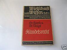 Derecho mercantil Dr. Barth u. Dr. voigt economía y saben cuaderno 6 carl meyer 1938