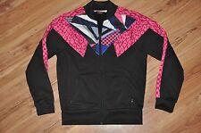 Womens Puma Jacket Med - 80's Style HIP HOP Black/Pink Active Athletic Track