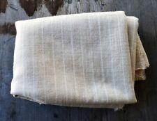 "Luxury Wool Fabric Beige and White Pinstripe 76"" x 54"""
