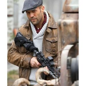 New The Expendables 2 Film Jason Statham Leather Jacket-All Size are Available.