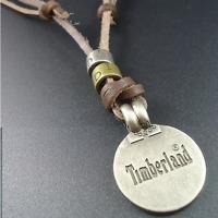 Collier bijoux pendentif Femme Homme DIESEL & timberland vintage véritable cuir